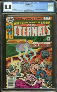 Eternals 2 CGC 8.0   1st Ajak & The Celestials   White Pages