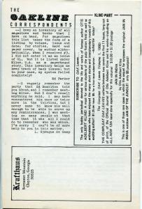 Oak Leaves #15 1982-fanzine-sci-fi pulp author Otis Adelbert Kline-FN