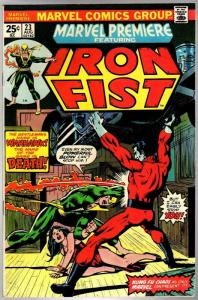 MARVEL PREMIERE 23 F-VF Aug. 1975  IRON FIST