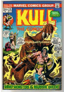 KULL the CONQUEROR 10, VF, Robert Howard, White Queen, 1971, more in store