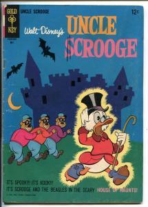 UNCLE SCROOGE #63 1966-GOLD KEY-WALT DISNEY-CARL BARKS ART-vg