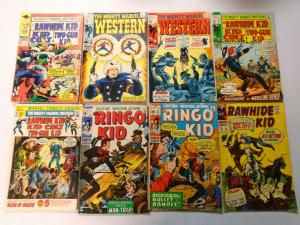 Silver + Bronze Age Marvel Western Comic Lot, 52 Different, Average 4.0