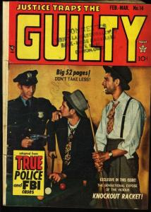JUSTICE TRAPS THE GUILTY #14-1950-PHOTO COVER VG-
