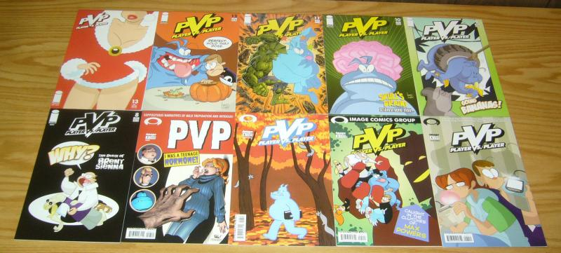 PvP #1-6 VF/NM complete series + vol. 2 #0 & 1-45 scott kurtz - image comics set