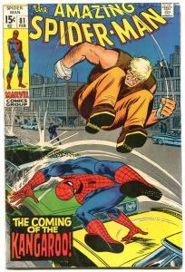 Amazing Spider-Man #81 1970- Kangaroo- Marvel Comics VG