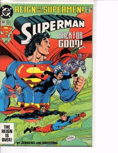 DC Comics Superman #82 Standard Edition Back For Good!
