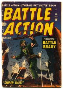 Battle Action #9 1952-Atlas war comic-Battle Brady- G-