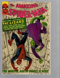 Amazing Spider-Man # 6 VF- Marvel Comic Book 1st Lizard Appearance Vulture TJ1