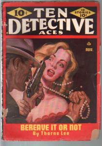Ten Detective Aces 11/1946-Albert Drake-Emil Petaja-hardboiled crime pulp-VG