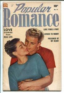 POPULAR ROMANCE #14-1951-GOOD GIRL ART-RUBEN MOREIRA-PHOTO COVER-vg
