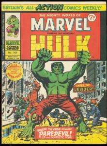 MIGHTY WORLD OF MARVEL #107-HULK-LEADER-BRITISH VG