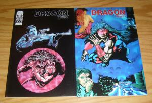 Dragon Mist #1-2 VF/NM complete series - raised brow - indy comics set lot