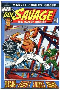 Doc Savage #1 1972- Hot Bronze Age Book- Movie coming starring the ROCK