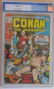 CONAN the BARBARIAN #2, CGC 3.0, G/VG, Cream to Off-white pgs, Barry Smith, 1970