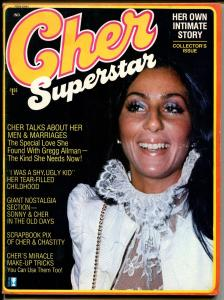 Cher Superstar-#1 1975-1st issue-Cher's life story-many photos-VF