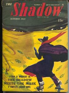 The Shadow 10/1944-The Shadow Meets The Mask-hero pulp-VG/FN