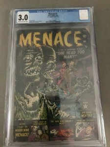 Menace #1 3.0 CGC PRE CODE HORROR - EXTREMELY RARE