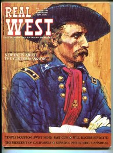 Real West 9/1970-Custer cover & story-Will Rogers-pulp violence-FN
