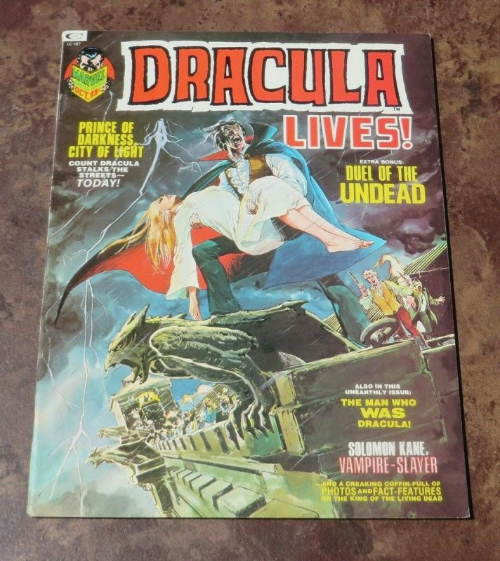 Dracula lives #3 FN/VF 1973 Horror Magazine Duel of the Undead Darkness Prince