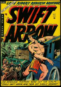 Swift Arrow #5 1954- Golden Age Western- Lone Rider FN