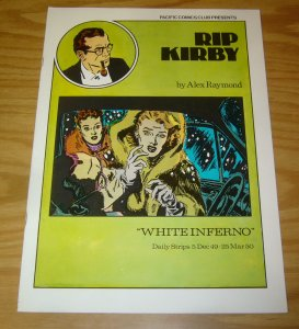 Rip Kirby #13 VF pacific comics club - alex raymond - white inferno - 1980