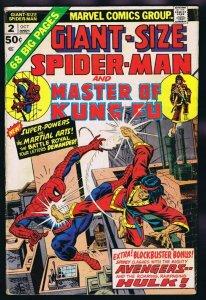 Giant Size Spider Man #2 ORIGINAL Vintage 1974 Marvel Comics Master of Kung Fu