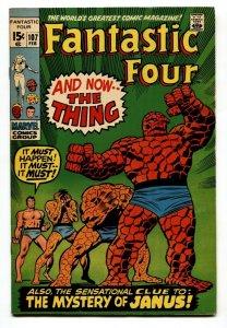 FANTASTIC FOUR #107 1971-1st appearance of the Nega-Man, VF+