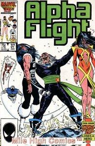 ALPHA FLIGHT (1983 Series)  #37 Very Fine Comics Book