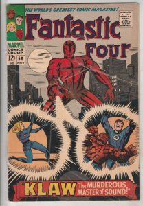 Fantastic Four #56 (Nov-66) VG/FN Mid-Grade Fantastic Four, Mr. Fantastic (Re...