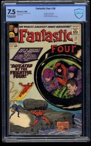 Fantastic Four #38 CBCS VF- 7.5 Off White to White