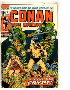 Conan The Barbarian # 8 VF Marvel Comic Book Barry Smith Sword Sorcery FM3