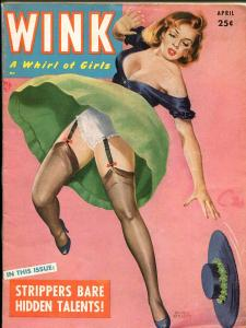 Wink4/1953-Peter Driben pin-up girl cover-cheesecake pix-spicy-stockings-FN+