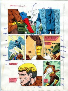 Justice Machine #24 Page #8 1988 Original Color Guide