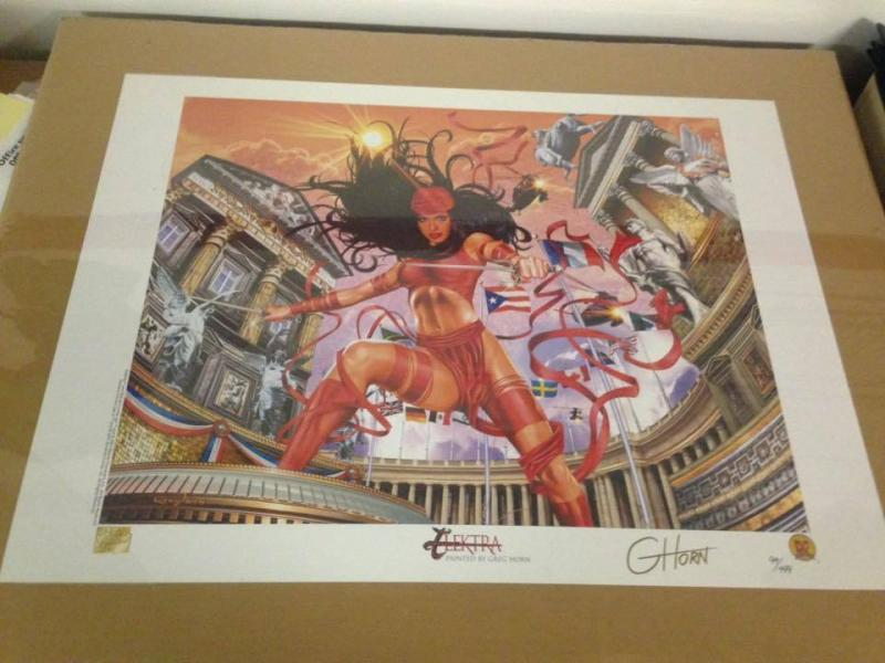 Dynamic Forces Greg Horn Signed Elektra Lithograph limited #94/499 pieces