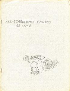 All-STARbegotten #6% Part B 1963-rare comics fanzine-4 page issue-FN