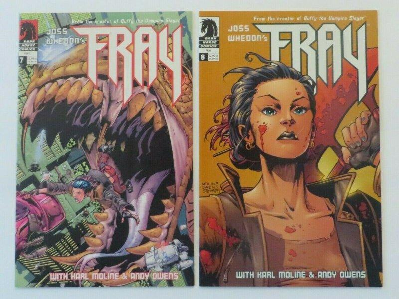 Fray #1-8 Complete Set VF/NM 1st Print Dark Horse Comics 2001 Joss Whedon