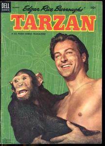 TARZAN #51 LEX BARKER PHOTO COVER 1953 JESSE MARSH ART FN