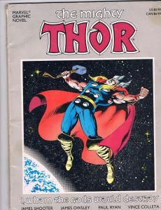 Marvel Graphic Novel The Mighty Thor I, Whom The Gods Would Destroy Book MW2