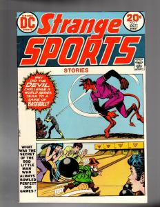 STRANGE SPORTS STORIES 1 VG  Oct. 1973 COMICS BOOK