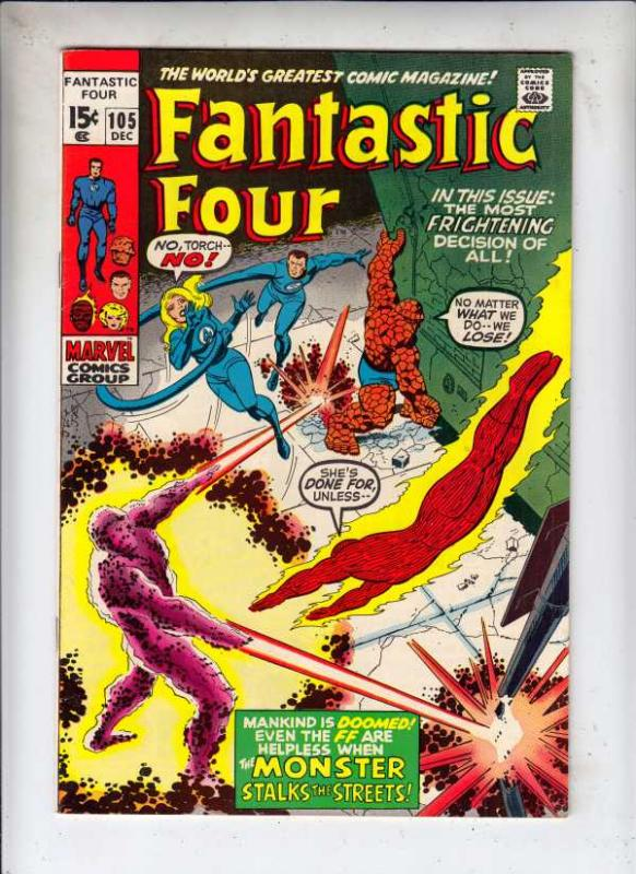 Fantastic Four #105 (Dec-70) VF/NM High-Grade Fantastic Four, Mr. Fantastic (...