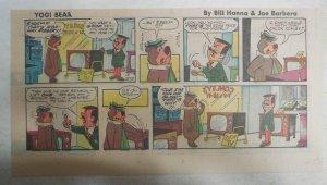 Yogi Bear Sunday Page by Hanna-Barbera from 6/17/1973 Third Page Size !