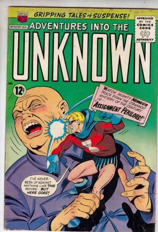 Adventures Into the Unknown #160 (Oct-65) FN/VF Mid-High-Grade Nemesis
