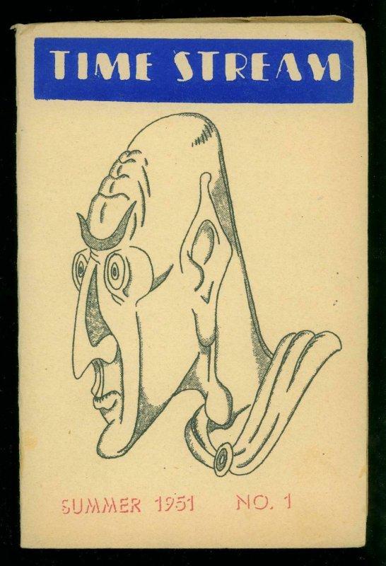 Time Stream Fanzine #1 1951- Sci-fi pulp Bob Silverberg- Rare fandom item
