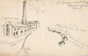 DIBUJO 3664: Dibujo boceto en lapiz para El Ingenio del Doctor Lorrea