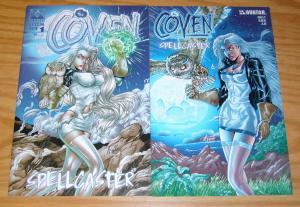 the Coven: Spellcaster #½ & 1 VF/NM complete series - all al rio variants - half