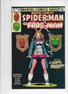 MARVEL TEAM-UP #131, VF+, Spider-Man, Frog-Man, White Rabbit 1972 1983