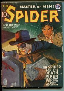 Spider-5/1942-Popular- pulp-Death Piper-Rafael DeSoto cover-classic-FN-
