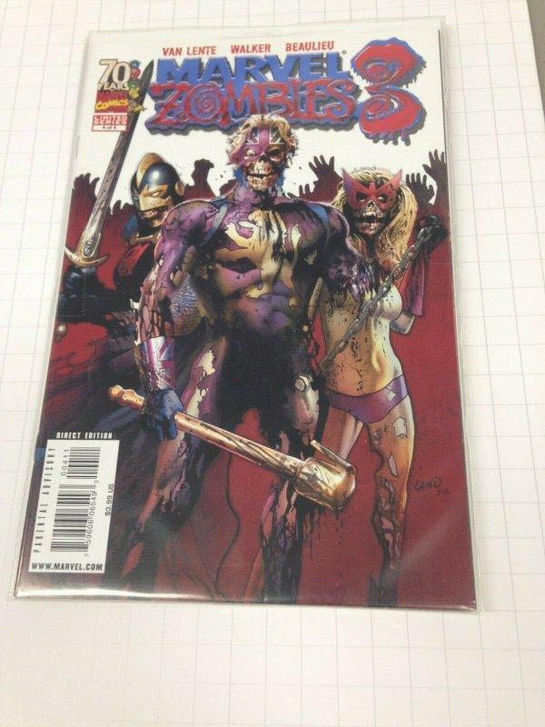 Marvel Zombies 3 1-4 set Avg. grade NM