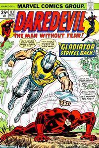 Marvel Comics Daredevil #113 Black Widow VF Gladiator