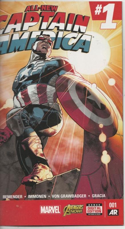 All-New Captain America Variant #1 (Jan-15) NM- High-Grade Captain America, T...